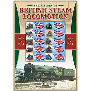 British Steam Locos 1923 - 1938 GB Customised Stamp Sheet