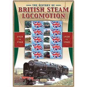 British Steam Locos 1938 -1960 GB Customised Stamp Sheet