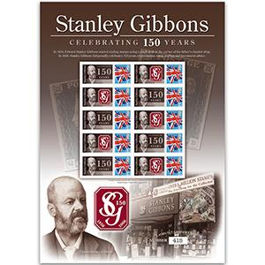 Stanley Gibbons - 150th Anniversary GB Customised Stamp Sheet