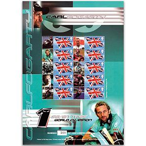 Carl Foggarty GB Customised Stamp Sheet