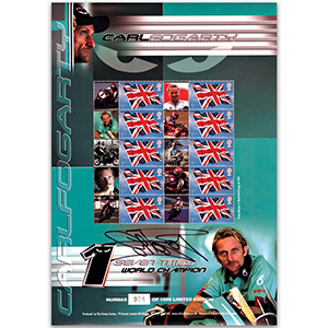 Carl Foggarty GB Customised Stamp Sheet Signed