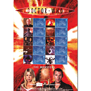Doctor Who GB Customised Stamp Sheet - The Monsters