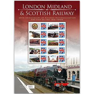 London, Midland & Scottish Rail GB Customised Stamp Sheet