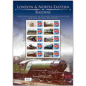 London & North Eastern GB Customised Stamp Sheet