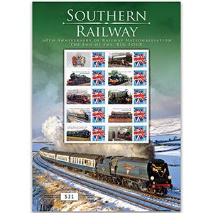 Southern Rail GB Customised Stamp Sheet