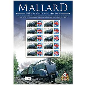 Mallard Locomotive GB Customised Stamp Sheet