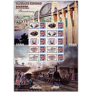 Isambard Kingdom Brunel GB Customised Stamp Sheet - History of Britain No. 5