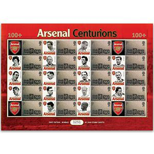 Arsenal Centurians GB Customised Stamp Sheet
