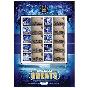 Maine Road Greats GB Customised Stamp Sheet