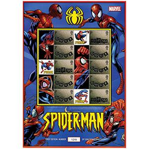 Spider-Man GB Customised Stamp Sheet