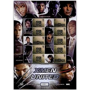 X-Men United GB Customised Stamp Sheet