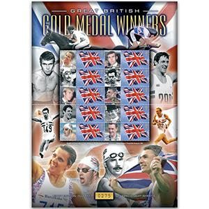 Olympic Gold Medal Winners GB Customised Stamp Sheet