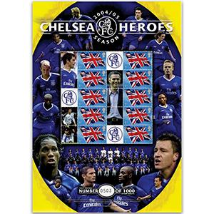 Chelsea Heroes GB Customised Stamp Sheet