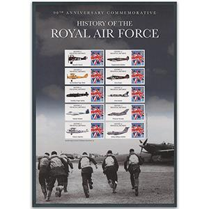RAF GB Customised Stamp Sheet