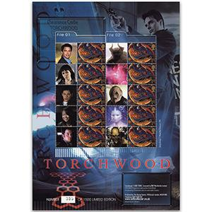 Doctor Who - Torchwood GB Customised Stamp Sheet