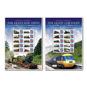 Quest for Speed Pair Of G.B Customised Stamp Sheets (A&B)