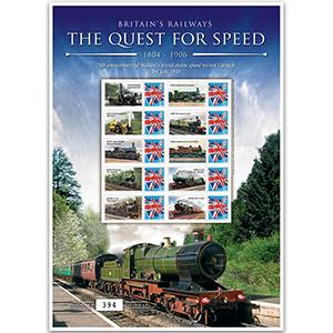 Quest for Speed - 1804/1906 GB Customised Stamp Sheet