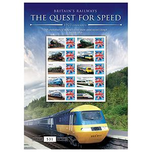 Quest For Speed - 1923 Onwards GB Customised Stamp Sheet