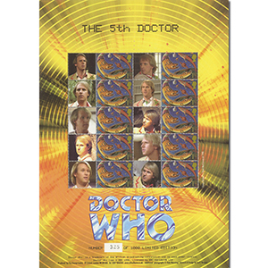 Doctor Who GB Customised Stamp Sheet - The 5th Doctor
