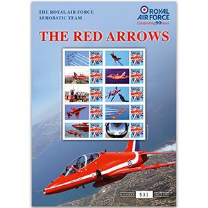 Red Arrows GB Customised Stamp Sheet