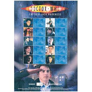 Doctor Who GB Customised Stamp Sheet - Captain Jack Harkness