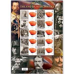 WWI 90th Anniversary GB Customised Stamp Sheet