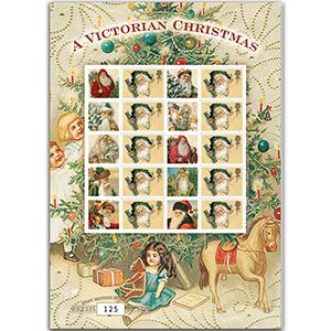 A Victorian Christmas GB Customised Stamp Sheet