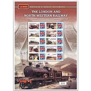 The London & North Western Railway GB Customised Stamp Sheet