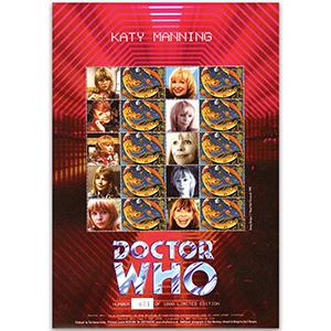 Doctor Who GB Customised Stamp Sheet - Katy Manning