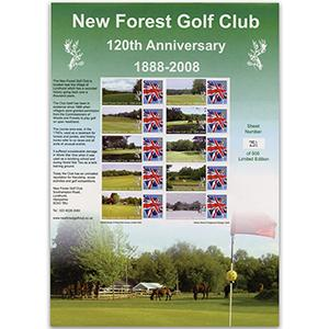 New Forest Golf Club GB Customised Stamp Sheet