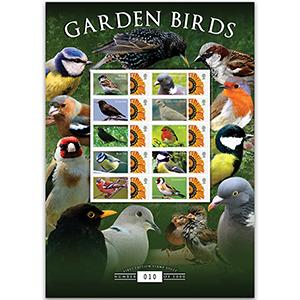 Garden Birds GB Customised Stamp Sheet