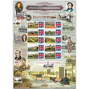 Industrial Revolution GB Customised Stamp Sheet - HoB 31