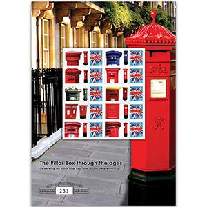 Postboxes GB Customised Stamp Sheet