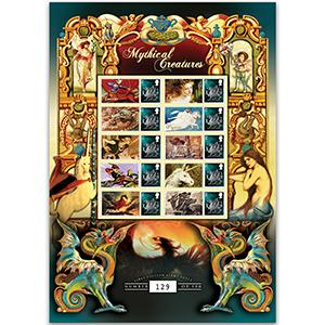 Mythical Creatures GB Customised Stamp Sheet
