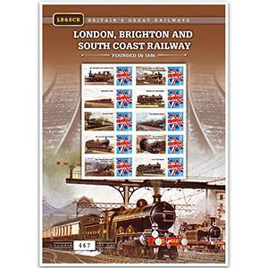 London, Brighton & South Coast Railway GB Customised Stamp Sheet
