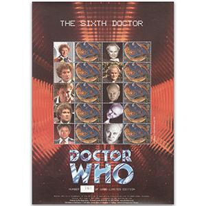 Doctor Who GB Customised Stamp Sheet - The Sixth Doctor