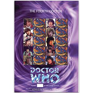 Doctor Who GB Customised Stamp Sheet - The Fourth Doctor