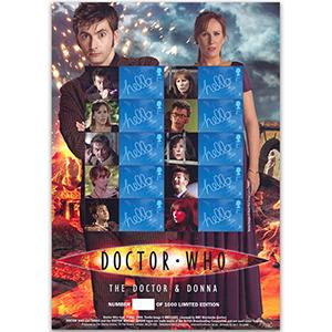 Doctor Who GB Customised Stamp Sheet - The Doctor & Donna