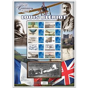 Bleriot GB Customised Stamp Sheet