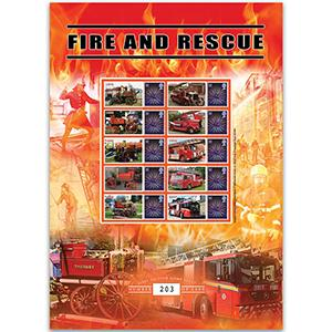 Fire & Rescue Services GB Customised Stamp Sheet