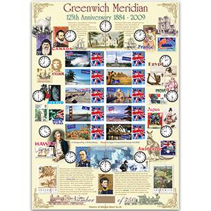 Greenwich Meridian GB Customised Stamp Sheet - HoB 38