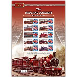The Midland Railway GB Customised Stamp Sheet