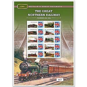 Great Northern Rail GB Customised Stamp Sheet