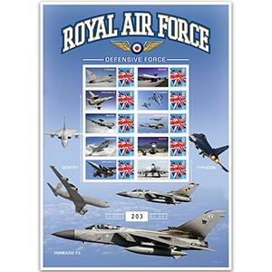 RAF Defensive Tornado F3 GB Customised Stamp Sheet No. 1