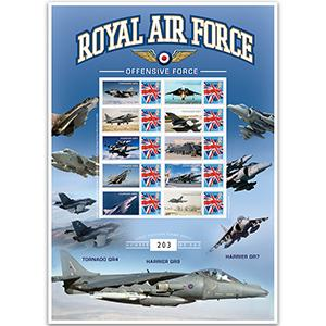 RAF Offensive Harrier GR9 GB Customised Stamp Sheet No.2