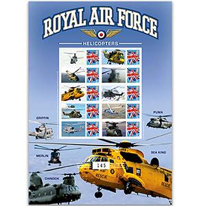 RAF Helicopters GB Customised Stamp Sheet No. 5