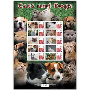 Cats & Dogs GB Customised Stamp Sheet