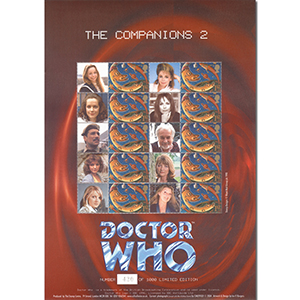 Doctor Who GB Customised Stamp Sheet - Comapnions (unsigned)