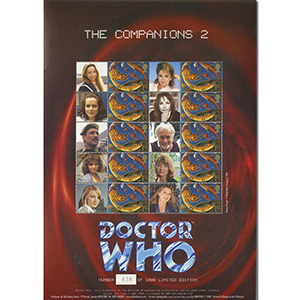Doctor Who GB Customised Stamp Sheet - Comapnions 2 (unsigned)