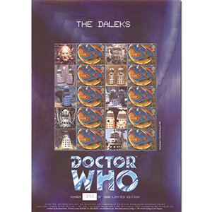 Doctor Who GB Customised Stamp Sheet - Daleks (unsigned)